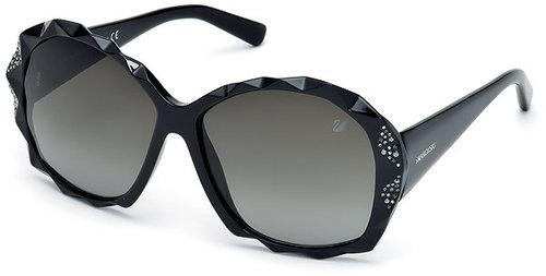 Charlie Black Crystal Sunglasses - Asian fit