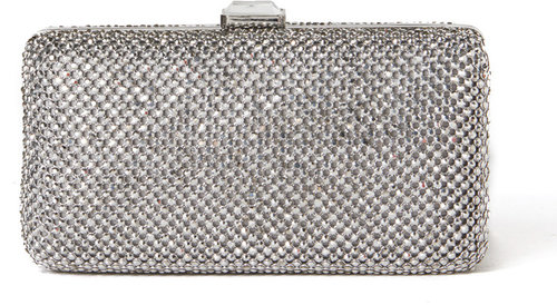 Jeweled Mesh Box Clutch