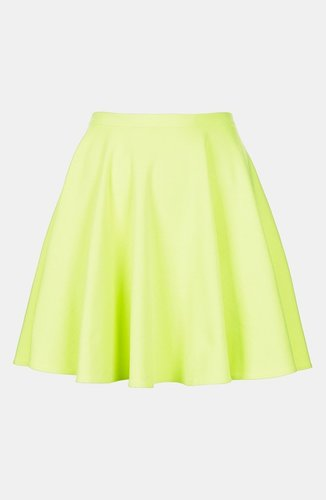 Topshop &#039;Milano&#039; Jersey Skater Skirt