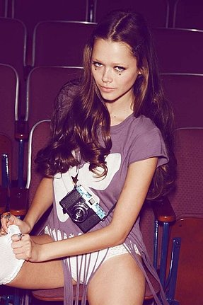 Wildfox Couture Jude Festival Fringe Tee in Amethyst