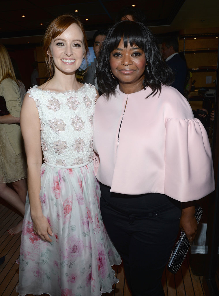 Octavia Spencer and Ahna O'Reilly caught up.