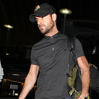Justin Theroux Lands in LA After a Bachelor Party in NYC