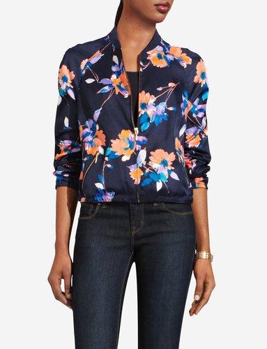 Sheer-Back Varsity Jacket