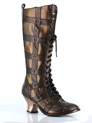 Lace-up Retro Knee Boot
