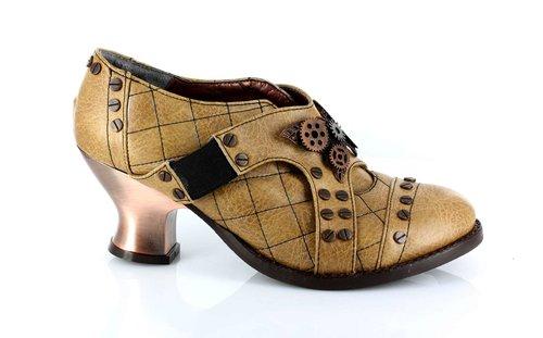 "2.5"" Heel Retro Oxford with elastic strap"