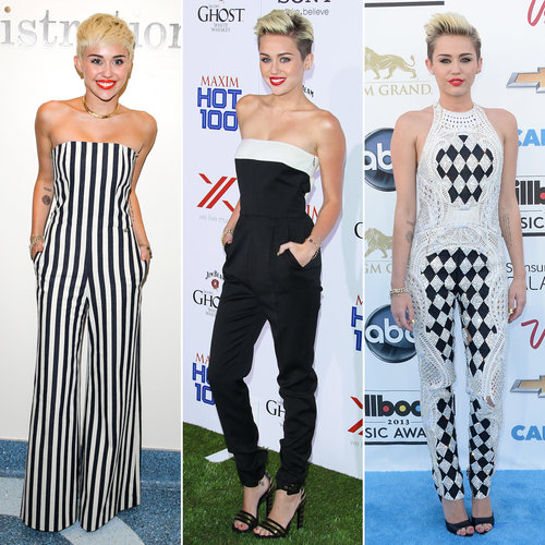 Miley Cyrus Black White Red Carpet Pictures