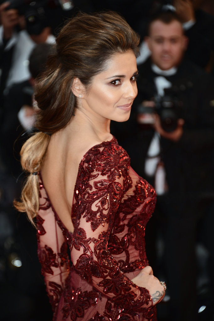 Cheryl's hair from the side.