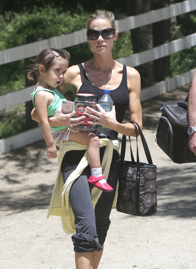 Denise Richards took her daughter Eloise, along with Lola and Sam, horseback riding in LA on Sunday.