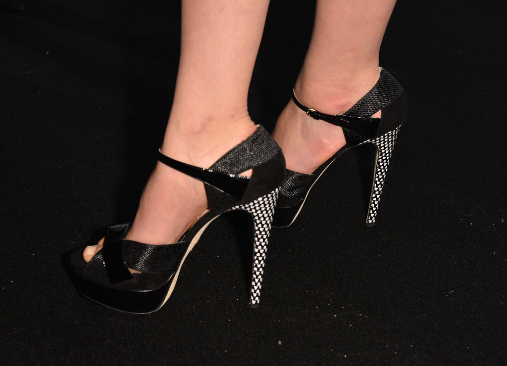 Carey Mulligan wore Brian Atwood pumps.