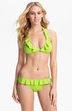 Show off the ruffle detail on this Ralph Lauren Blue Label top ($58) and bottom ($40) with a vivid lime hue.