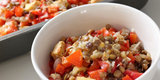 Low-Calorie, Big Portions: Red Pepper and Lentil Bake