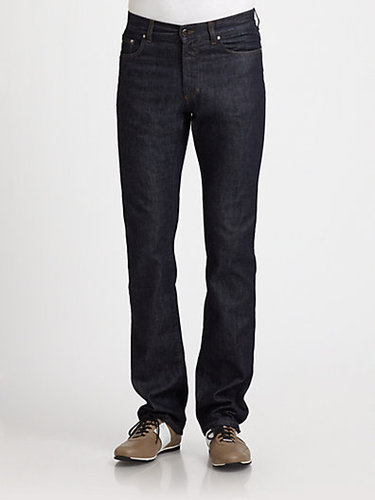 Versace Collection Ink Straight-Leg Jeans