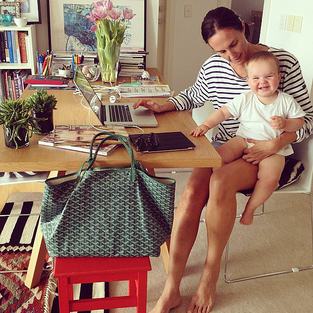 "What does a typical day for you involve? ""As I've got two children, I'm in full on mum mode trying to juggle work and my kids is hectic, but the perfect work life balance. There are no typical days at the moment!"" Source: Instagram user tashsefton"