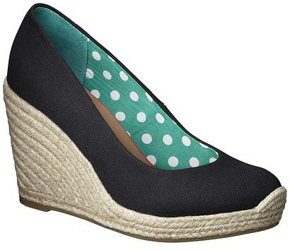 Women's Merona® Marguerite Closed Wedge Canvas Espadrille -Black