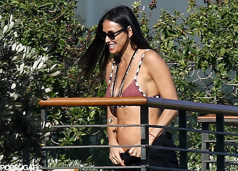 Demi Moore Brings Her Amazing Bikini Body to Her Ex's House
