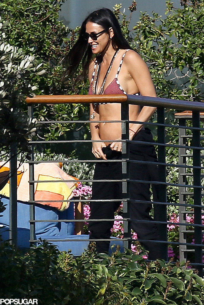 Demi Moore Brings Her Amazing Bikini Body to Her Ex's House
