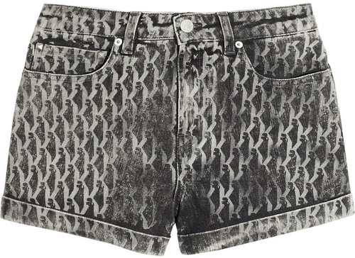 Karl Lagerfeld Steffie printed stretch-denim shorts