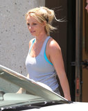 Britney Spears left a rehearsal studio in Thousand Oaks, CA.