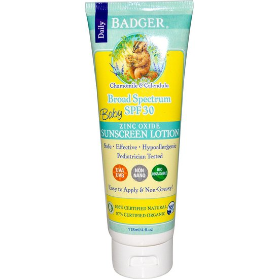 Health Food Store Find: Badger Baby Sunscreen Lotion SPF 30+