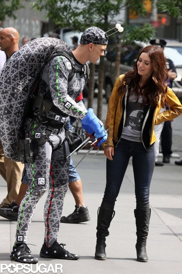 Cowabunga! Megan Fox Films With Her Shell-Less Ninja Turtle