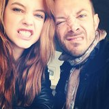 Barbara Palvin posed for this pic while en route to Cannes with a friend. Source: Instagram user barbarapalvin_