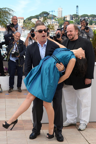 Alec Baldwin was accompanied by his wife, Hilaria Thomas, at his Seduced and Abandoned photocall in Cannes.