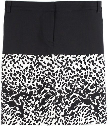 Animal Color Block Skirt