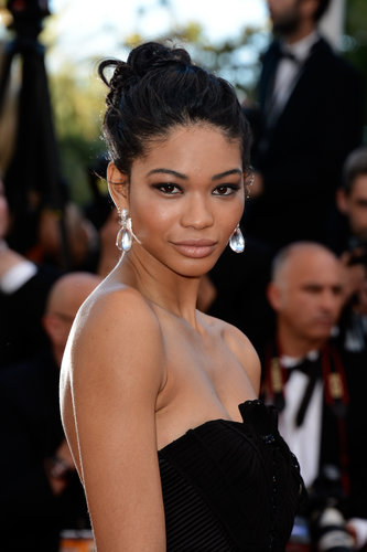 It was a basic updo for Chanel Iman on the Cleopatra red carpet, and her makeup was simple yet stunning.