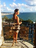 Eva Longoria, dressed in a playful striped skirt, shared this photo of the view from her hotel balcony — could it get any more breathtaking? Source: Eva Longoria on WhoSay