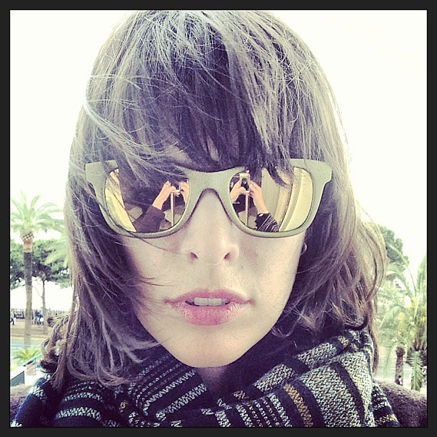 Milla Jovovich showed off a rad pair of mirrored sunglasses during the day at the festival. Source: Instagram user millajovovich
