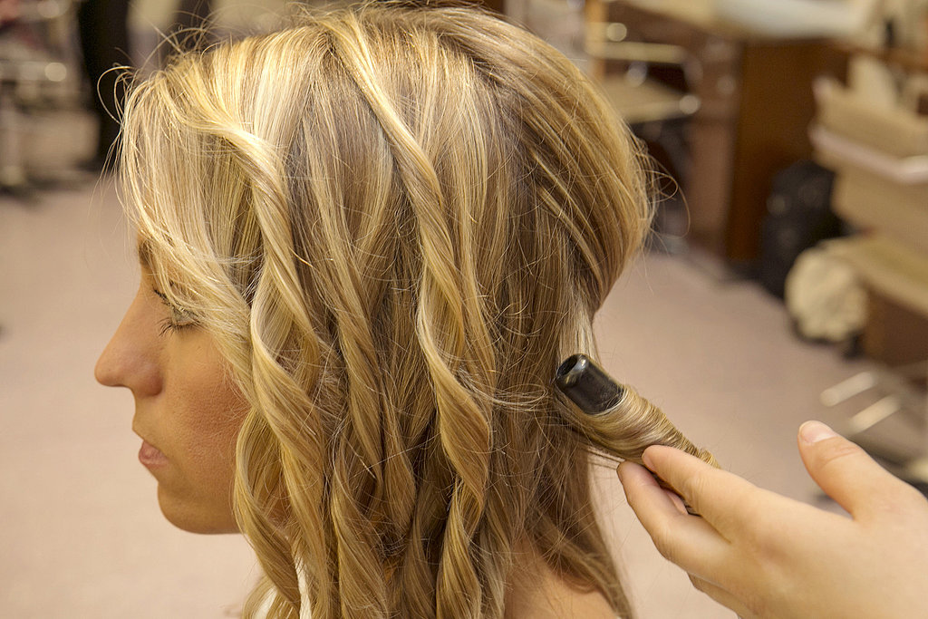 Next Use A Curling Iron To Create Beach Waves Or To