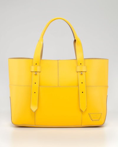 Tribeca Harrison Street Tote Bag, Lemon/Gray