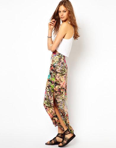 ASOS Maxi Skirt in Digital Print