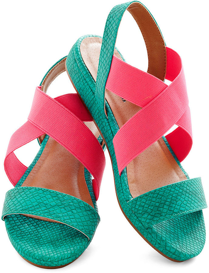 Go bold in ModCloth's mix of teal and pink ($49).