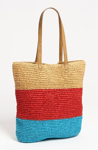 Straw Studios Crochet Stripe Tote