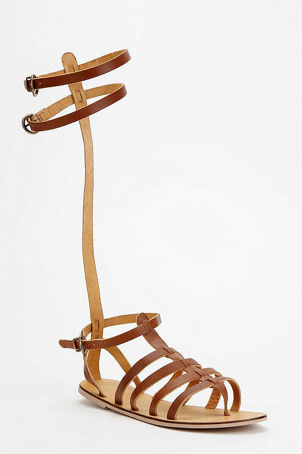This Summer, gladiator sandals went taller than tall, like this calf-high style from Ecote ($49).