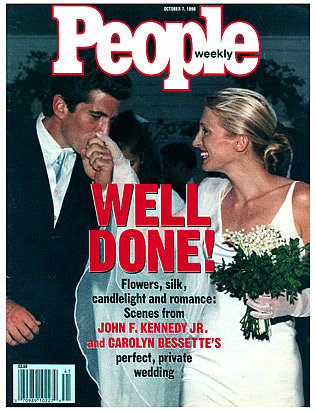 Carolyn Bessette and John F. Kennedy Jr: September, 1996