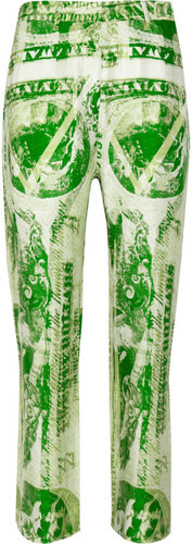 Acne Karma Currency dollar-print woven pants