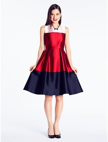 Colorblocked blanche dress