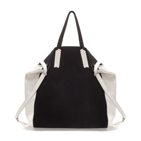With this black-and-white Zara tote ($100), you'll be right on trend.