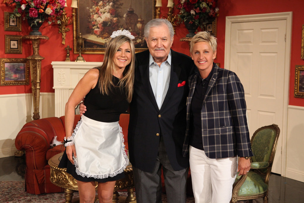 Jennifer Aniston's dad, John Aniston, made an appearance on The Ellen DeGeneres Show with his daughter.