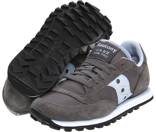 Saucony Originals - Jazz Low Pro (Grey/Blue) - Footwear