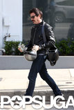 Ewan McGregor rode his motorcycle around LA.