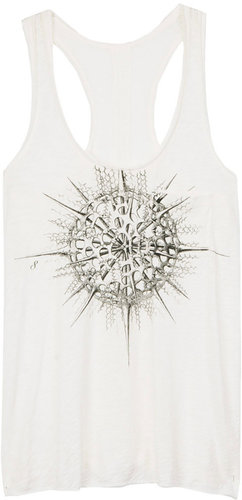 The Pocket Tank Tee - Bright White Graphic