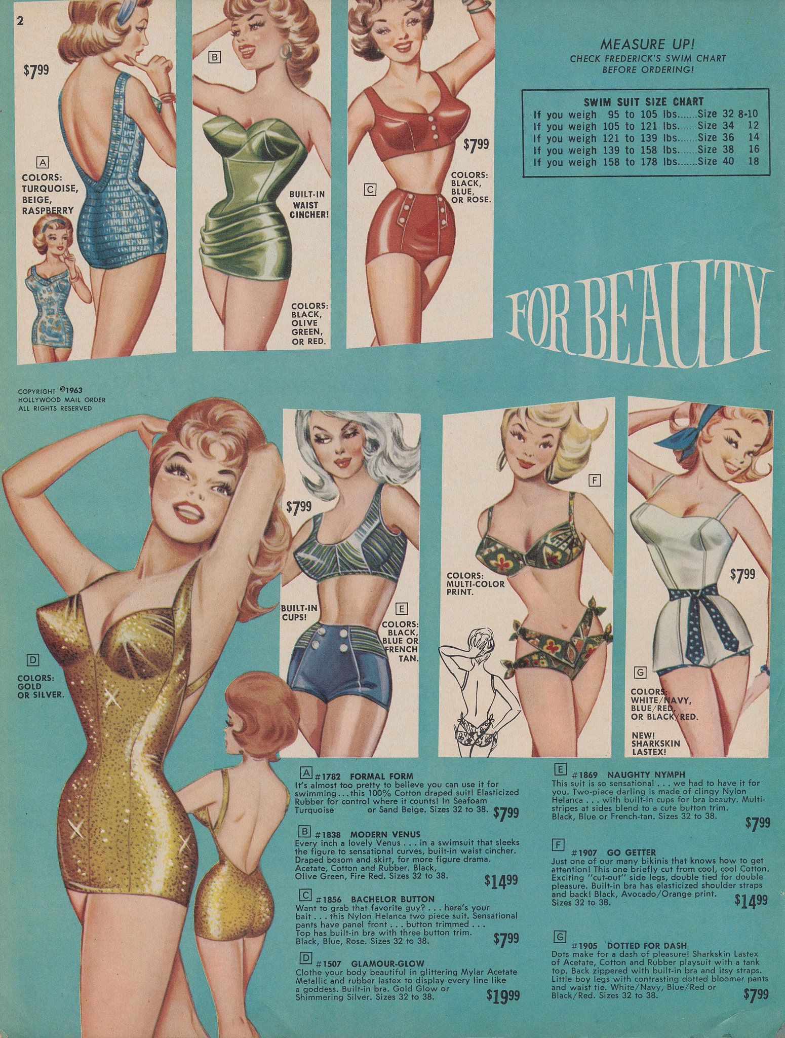 """These suits aren't for the beach; they're """"for beauty."""""""