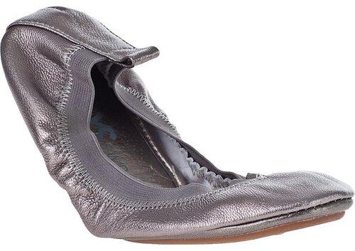 YOSI SAMRA Samra Metallic Ballet Flat Pewter