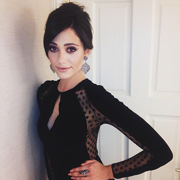 Emmy Rossum snapped a sultry self-portrait before heading to the Billboard Music Awards. Source: Instagram user emmyrossum