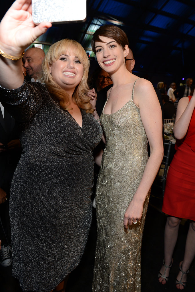 Rebel Wilson and Anne Hathaway teamed up for a picture in January 2013 during the Critics' Choice Awards.