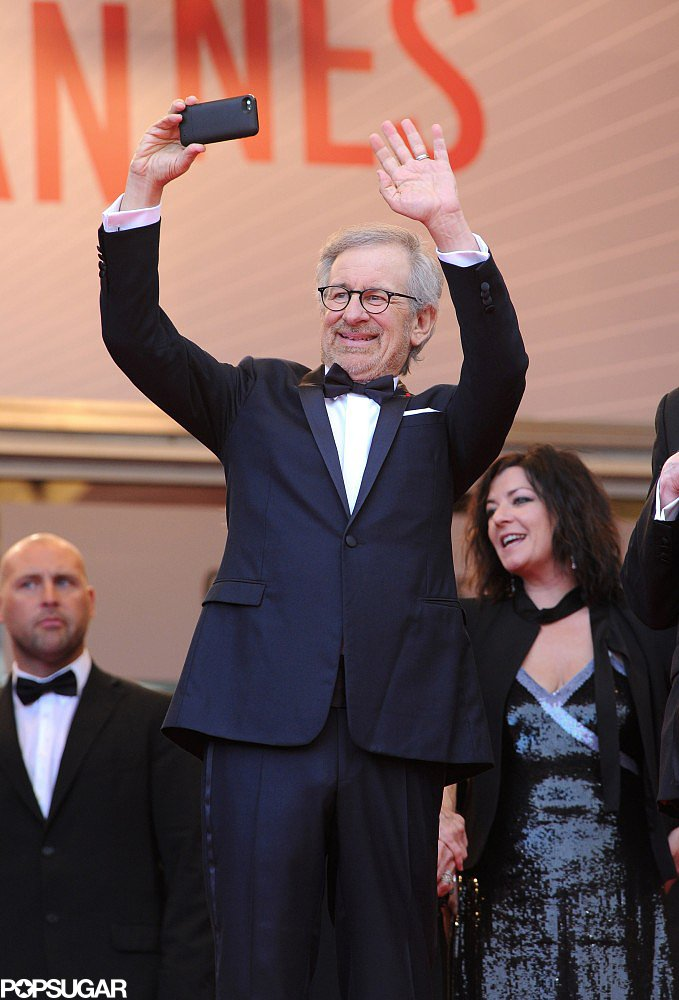 Steven Spielberg took a picture of the crowd at the premiere of Inside Llewyn Davis at Cannes on Sunday.