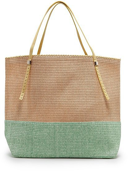 A serene palette and quintessential Summer feel — plus the fact that this Mango Two-Tone Straw Tote Bag ($80) is ultralight — makes this a favorite.